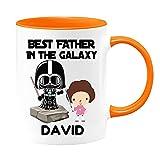 Tazza da tè personalizzata con scritta 'Best Father in the Galaxy, Girl Dad', regalo unico per papa, Star Wars, Darth Vader, Jedi
