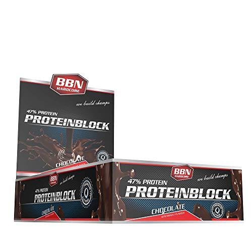 BBN Hardcore Protein Block Riegel, Schoko, 15 Stück