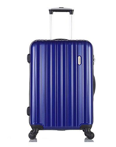 [レジェンドウォーカー] スーツケース ジッパー ハードスーツケース 4輪 快適な走行性能のキャスター 5096-58-カーボン 保証付 58L 66 cm 3.4kg ネイビー