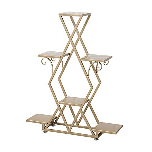 DAGCOT Gold Ladder Shelf, 4-Tier Display shelf, Plant Stand, Storage Shelves, Display Rack, for Store Living Room Balcony Bedroom Office