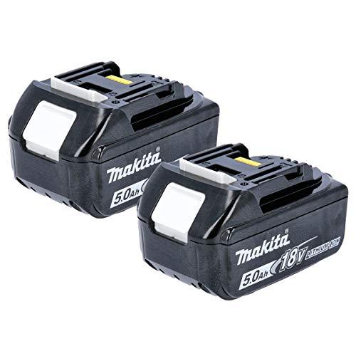 Makita 2BL185018V 5.0a batteria agli ioni di litio LXT–nero (confezione da 2)