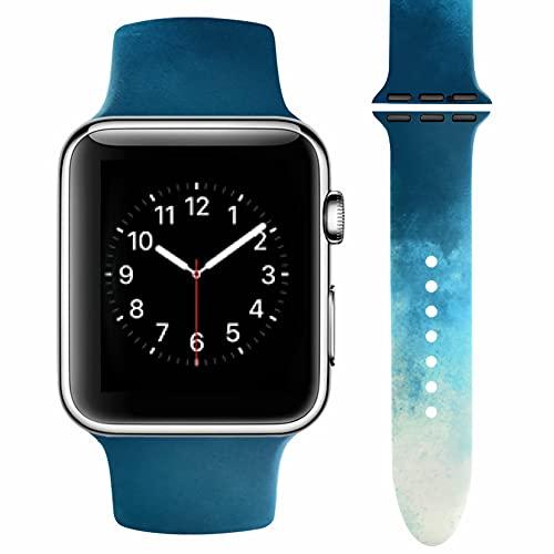 Vozehui - Cinturino di ricambio per Apple Watch 38, 40, 42, 44 mm, in morbido silicone, impermeabile, per iWatch Series SE 6, 5, 4, 3, 2, 1, donna e uomo, 42mm 44mm,