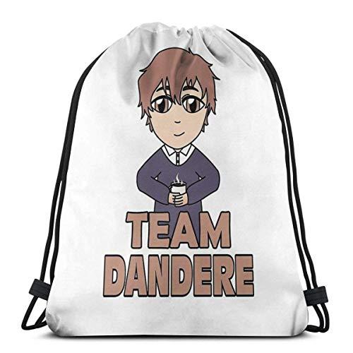 XCNGG Team Dandere Waterproof Foldable Sport Sackpack Gym Bag Sack Drawstring Backpack