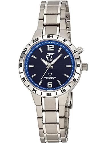 ETT Eco Tech Time Funk Solar Damen Uhr Analog mit Titan Armband ELT-11447-31M