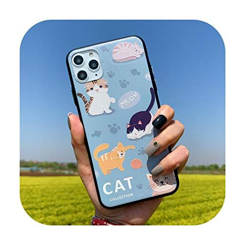 Phonecase - Carcasa rígida para iPhone SE 2020, diseño de gato y león en 3D, para iPhone 11, Pro, Max, 6, 6S, 7, 8 Plus, Xr Xs Max Etui