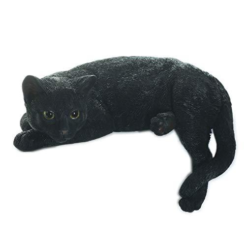 [ファンシー] ca79 (クロネコ) ネコ 猫 置物 敬老の日 プレゼント 贈り物 インテリア ガーデニング ガーデンオーナメント 猫 好き な 人 へ の プレゼント 誕生日プレゼント 女性 人気 彼女 結婚記念日 転居 最適なプレゼント