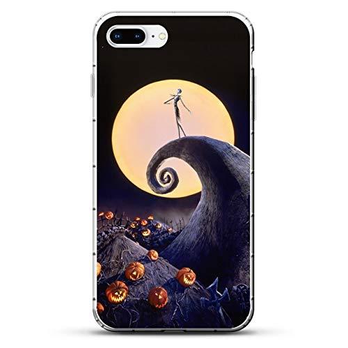 X-Art Transparent Fundas Slim Liquid Flexible Case Back Cover For Apple iPhone 7 Plus/8 Plus-Christmas-Nightmare Jack-Skellington 6