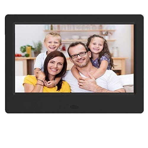 HLY Trading 7 Zoll HD Digital Photo Frame Video Player Digitaler Bilderrahmen mit Musik, Video-Funktion Digitaler Rahmen (Color : Black)