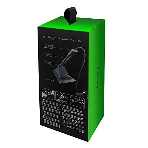 Razer Mouse Bungee V2 Zugfreie Kabelführung (bis zu 3,2 mm, mit Rostfreiem Federarm, Anti-Rutsch Füßen und Gewichteter Basis für Stabilität)