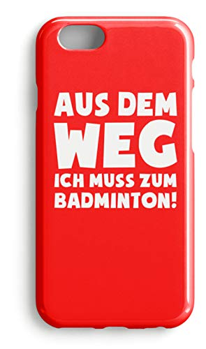 shirt-o-magic Handyhülle Badminton Federball: Muss zum Badminton! - Case -iPhone 6-Rubinrot