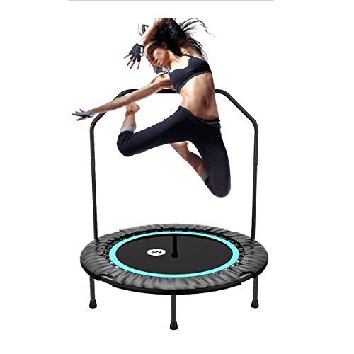 Trampolin Brincolin para Niños y adultos 40' plegable mini trampolín, fitness Rebounder con mango de espuma ajustable, Ejercicio de trampolín for adultos de los niños del jardín de interior / Entrenam