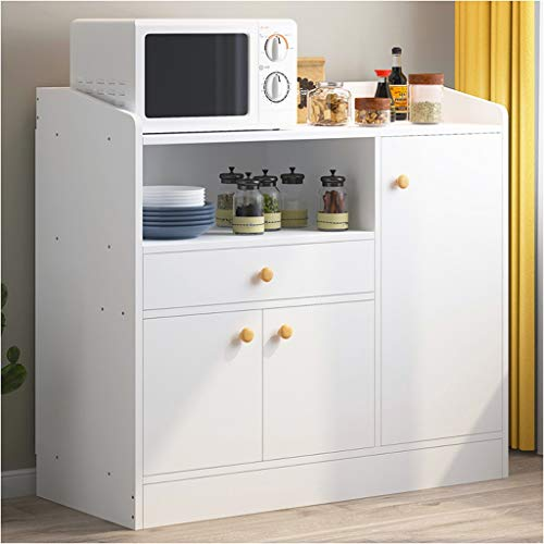 Keukenkast eenvoudige inrijging moderne huishoudkasten woonkamer locker multifunctionele magnetron draagbare thee wijn kast 80 x 30 x 80 cm XMJ