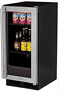 Marvel ML15BCG1RS Beverage Center, Glass Door, Right Hinge, 15-Inch, Stainless Steel