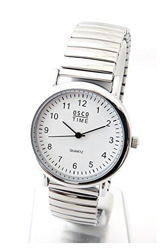 Osco classica da uomo orologio da polso con fascia in acciaio inox 03370051