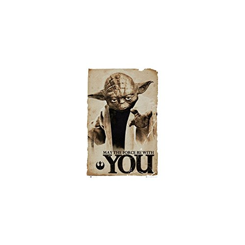 GB eye moviepostersdirect Poster Grand Format de Yoda dans Star Wars 61 x 91,5 cm