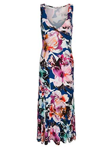 Alba Moda Strandkleid mit Raffinierter Schnittführung Blau-Pink