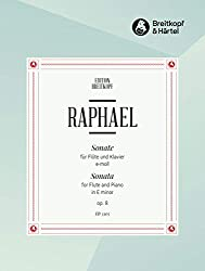 Partitions classique EDITION BREITKOPF RAPHAEL, GUNTER - SONATE E-MOLL OP. 8 - FLUTE, PIANO Flûte traversière
