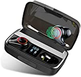 MuGo Wireless Earbuds, Bluetooth Headphones with Premium Sound Quality 8H Playtime, IP7 Waterproof Bluetooth Earbuds, Ultra-Lightweight, Built-in Mic, Touch Control Noise Cancelling in-Ear Earbuds