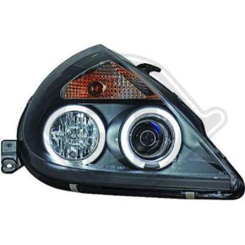 in.pro. 1460481 HD koplampenset Angel Eyes met knipperlichten Ford KA bouwjaar: vanaf 97 voor elektrische lichtbundelregeling Lampen: H1 H1, helder - zwart