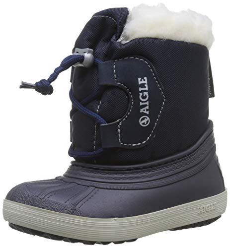Aigle Unisex-Kinder Nervei Junior Schneestiefel, Blau (Marine 001), 31 EU