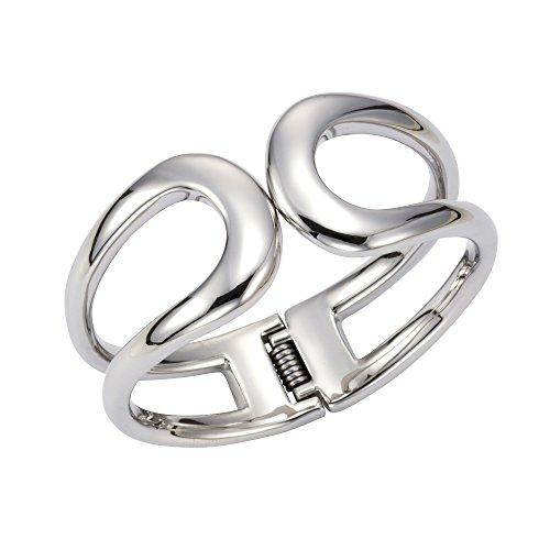 ZEEme Stainless Steel Damen Armreif Edelstahl 21cm Rhodiniert Silbergrau 389060150
