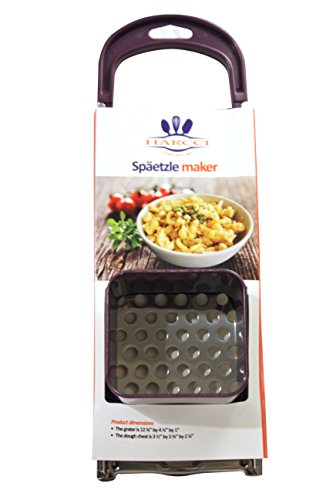 Spaetzle Maker By HARCCI : Homemade German Noodle Dumpling Making Tool With Safety Pusher And A...