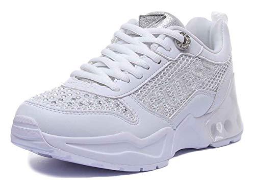 Guess Tandey Damen-Sportschuhe, Synthetik, Weiß, Weiß - weiß - Größe: 41 EU