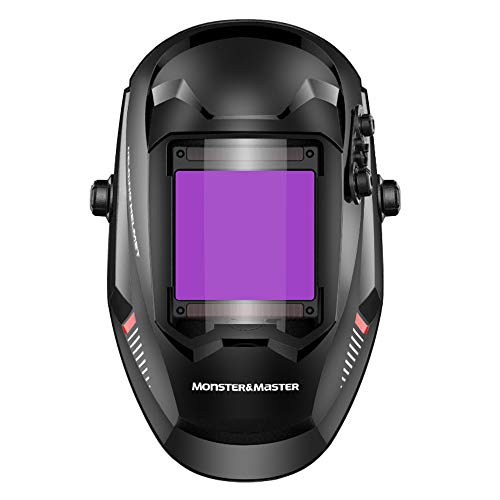 Monster amp MasterTrue ColorLarge Viewing Screen Solar Power Auto DarkeningWelding Helmet 4 Arc Sensor Wide Shade ATHUSMMWH004