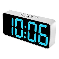 DreamSky Large Digital Alarm Clock with USB Port for Bedroom - Fully Adjustable Dimmer, Battery Backup, 12/24Hr, Snooze, Adjustable Alarm Volume, 8.9 Inches Big Alarm Clock for Vision Impaired