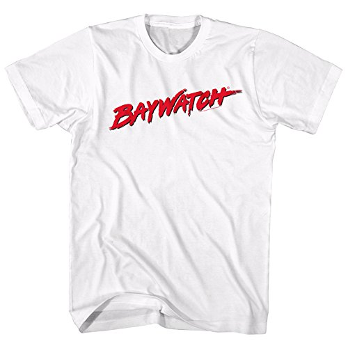 Baywatch 80s/90s Logo White T-shirt for Men