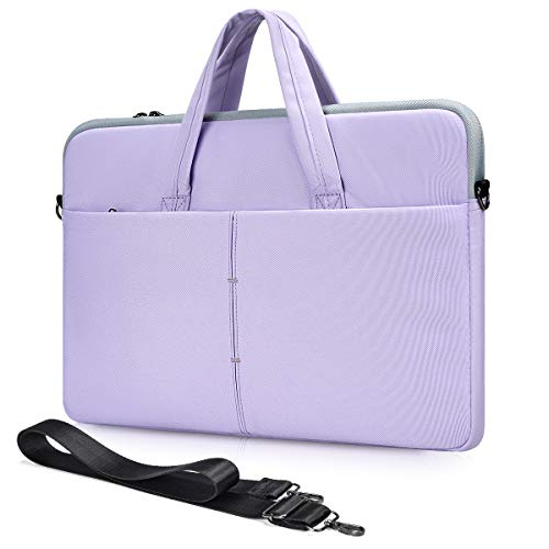 13.3-15 Inch Laptop Shoulder Messenger Bag for Lenovo Yoga C940 C740 730/Lenovo IdeaPad 3 14 Inch/Lenovo Flex 5 14, Dell Inspiron, Asus Zenbook/Chromebook Vivobook Sleeve Case(Purple)