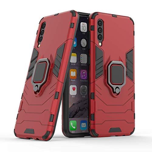 Capa para celular Samsung A50, em material tpu, com fivela magnética giratória de 360 °,vermelho