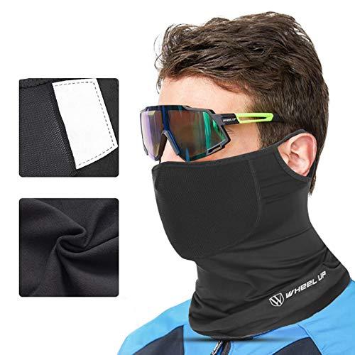 Cubierta facial para hombres, Unisex, negro, multifuncional, para la cabeza, pañuelo, bufanda, tubo, elástico, lavable, seda de hielo, ciclismo, motocicleta, pasamontañas, polaina, diadema (B)