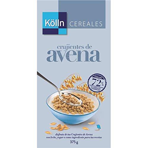 Kölln | Cereales integrales con copos de avena crujiente | Cereales integrales para desayunos y meriendas | 375 g