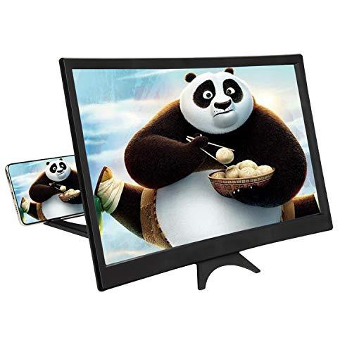 Xingsky 14 Zoll Bildschirmlupe Handy Lupe Bildschirm Bildschirmverstärker 3D Handy Bildschirmlupe Handylupe Bildschirm Vergrösserung für alle Smartphone-Modus