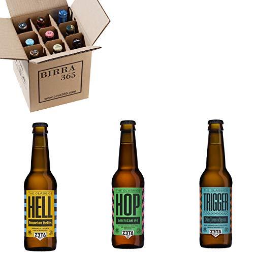 Caja especial 9 cervezas artesanas Zeta. Caja con un selección de las cervezas artesanas fresh de más calidad y 100% naturales.