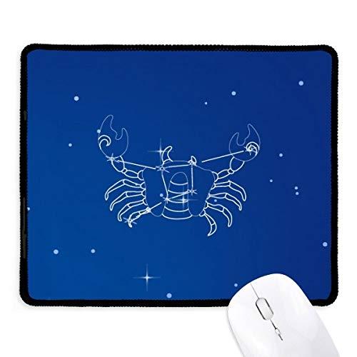 DIYthinker Star Universe Constellation Cancer Non-Slip Tapis De Souris Bureau Jeu Noir Titched Edges cadeau