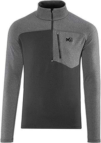 MILLET TECHNOSTRETCH Zip Polaire Homme, Noir/Tarmac, XL