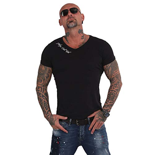 Yakuza Herren Basic Line V-Neck T-Shirt