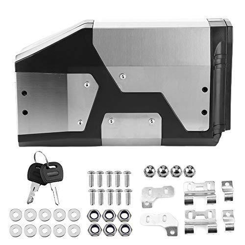 Akozon Cassetta porta attrezzi per moto Staffa laterale sinistra ADV con acciaio inossidabile Misura per R1200GS R1250GS 4.2L