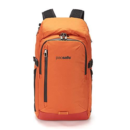 Pacsafe Venturesafe X30 GII Anti-Diebstahl Rucksack, 210D Nylon Diamond Ripstop, Reiserucksack, Reisegepäck mit Sicherheitstechnologie, 30 Liter, Orange/Orange