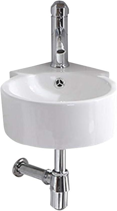Amazon Com Kitchen Sinks Bathroom Vanity Small Size Triangle Wash Basin Corner Mini Wash Basin Wall Mounted Wash Face Basin Balcony Bathroom Face Wash Basin Simple Ceramic Sink Tools Home Improvement