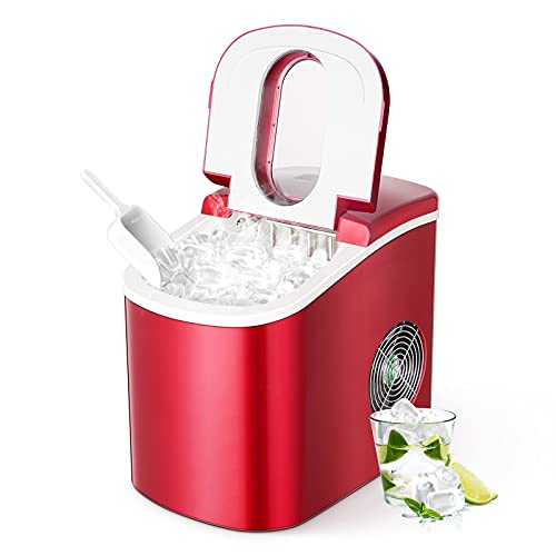 Portable Ice Maker Machine for Countertop, Ice Cubes Ready...