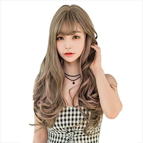 FH JIAFA - Perruque de Haute qualité Perruque de Haute qualité Perruque de Cheveux Verts à la Mode en Bois de frêne Lin Long c