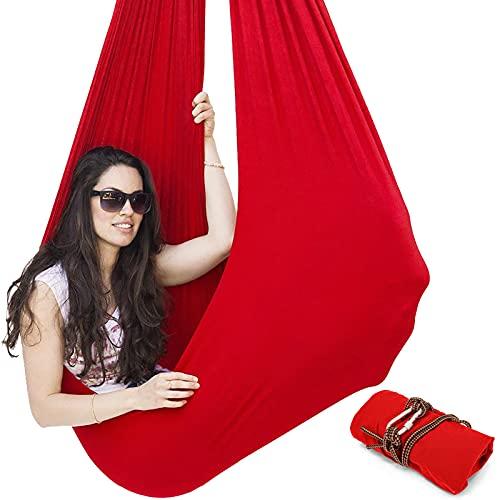 LvSenLin Sensorischer Swing-Stuhl Hängender Sitz Verstellbarer Luftflug Yoga Hängematte Sensorische Hängematte Für Kinder Oder Erwachsene