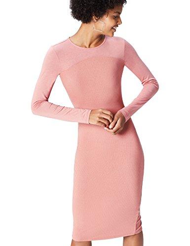 find. Vestido Recto para Mujer , Rosa, 40 (Talla del Fabricante: Medium)