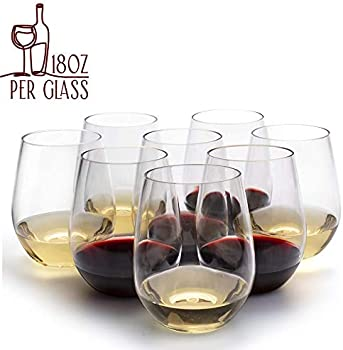 8-Pack D'eco Unbreakable Shatterproof 100% Tritan Wine Glasses