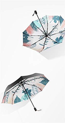 Sturmsicherer RegenschirmSchwarzer Kunststoff ultraleichter Sonnenschirm Sonnenschutz UV-Falten weibliche Sonnenschutzfarbe, A