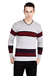 Neuvin Mens Woollen Striped Cardigan - Free Size