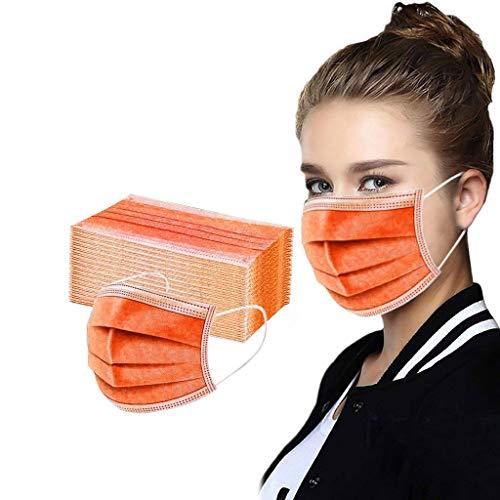 Beauteye 50 Stück Face Covering Mundschutz_Masken 3-lagig Mund und nasenschutz...
